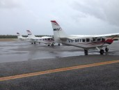 MAF planes on the ground. Post cyclone weather.