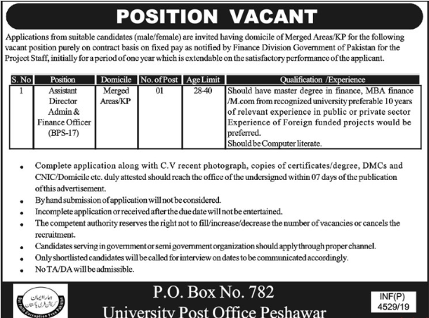 Finance Division Government Jobs
