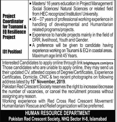 red crescent society jobs