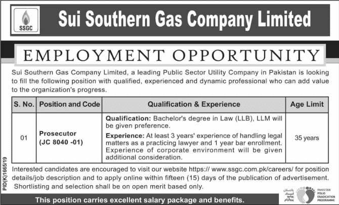Sui Southern Gas Company SSGC Jobs