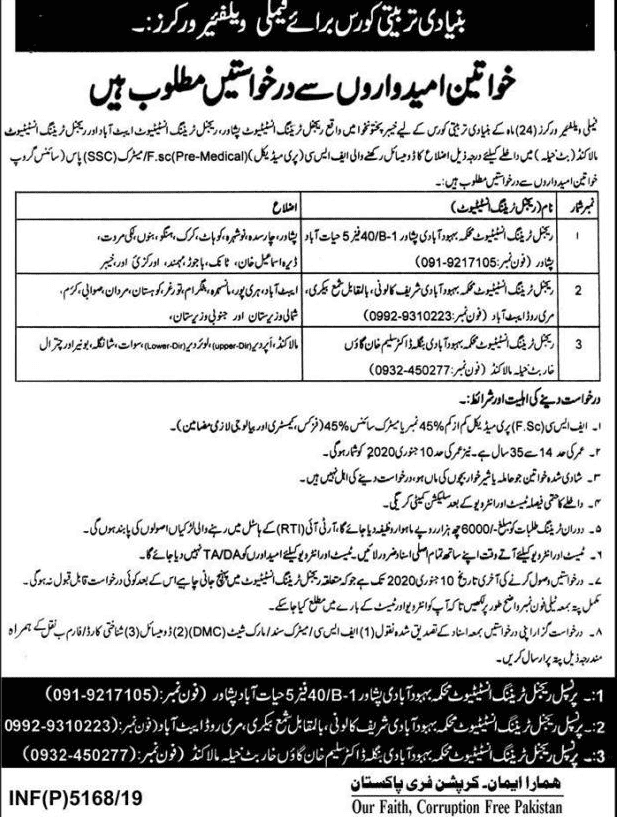 Family Welfare Workers jobs 2019