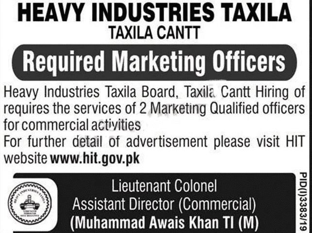 Heavy Industries Taxila Jobs 2019