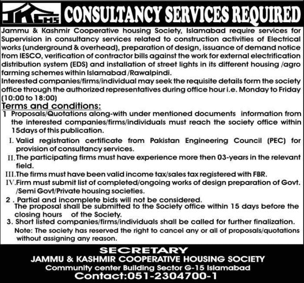 Cooperative Housing Society Jobs 2020