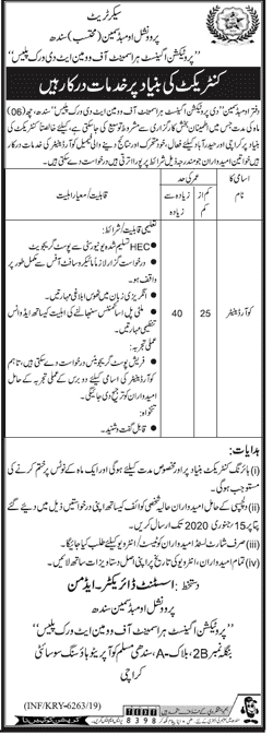 Office of the Ombudsman Sindh Jobs 2020
