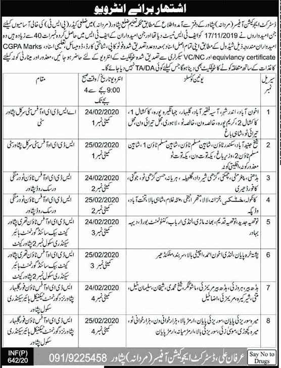 District Education Officer Jobs 2020