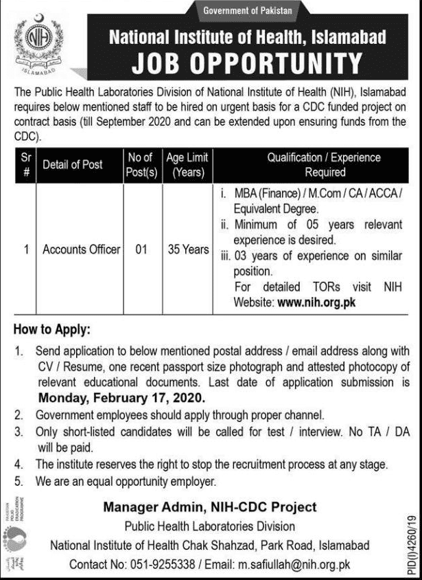 National Institute of Health Jobs 2020