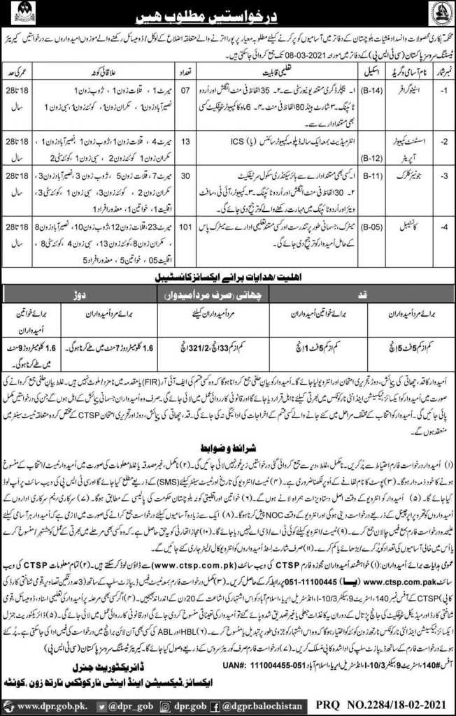Excise Taxation Department Jobs 2021