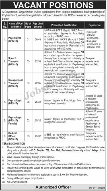 KPK Government Organization Jobs 2021