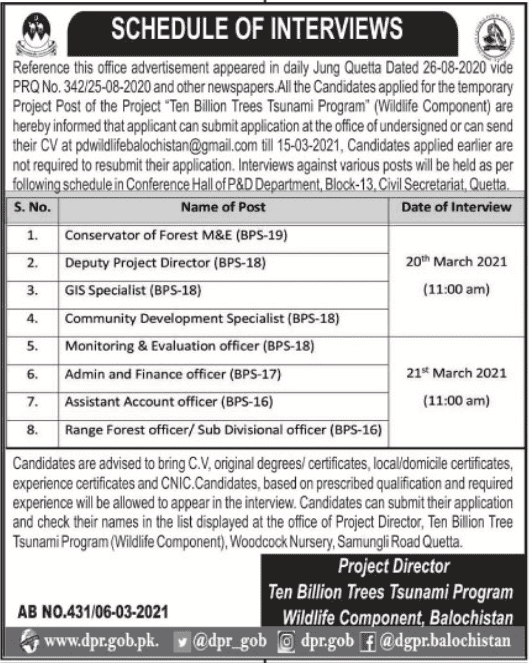 Wildlife Division Jobs 2021