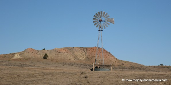 Windmill, rural Montana ranch country