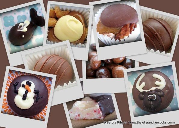 Box of chocolate collage