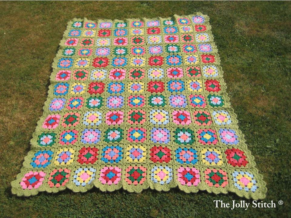 012 Colourful Granny Square Blanket