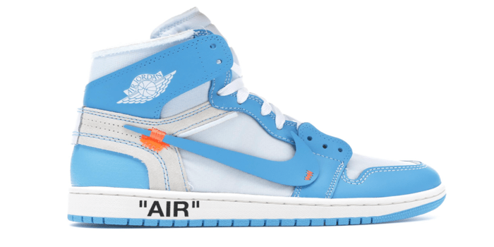 "Air Jordan Retro 1 ""Off-White University Blue"""