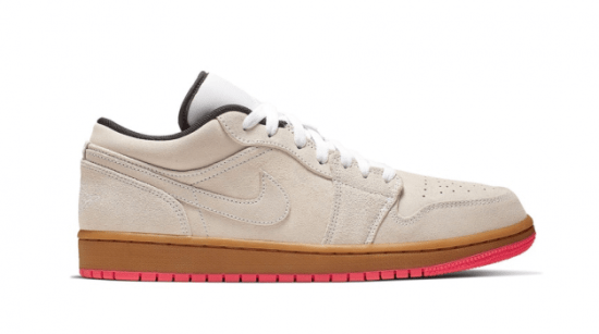"Air Jordan Retro 1 Low ""White Gum Hyper Pink"""
