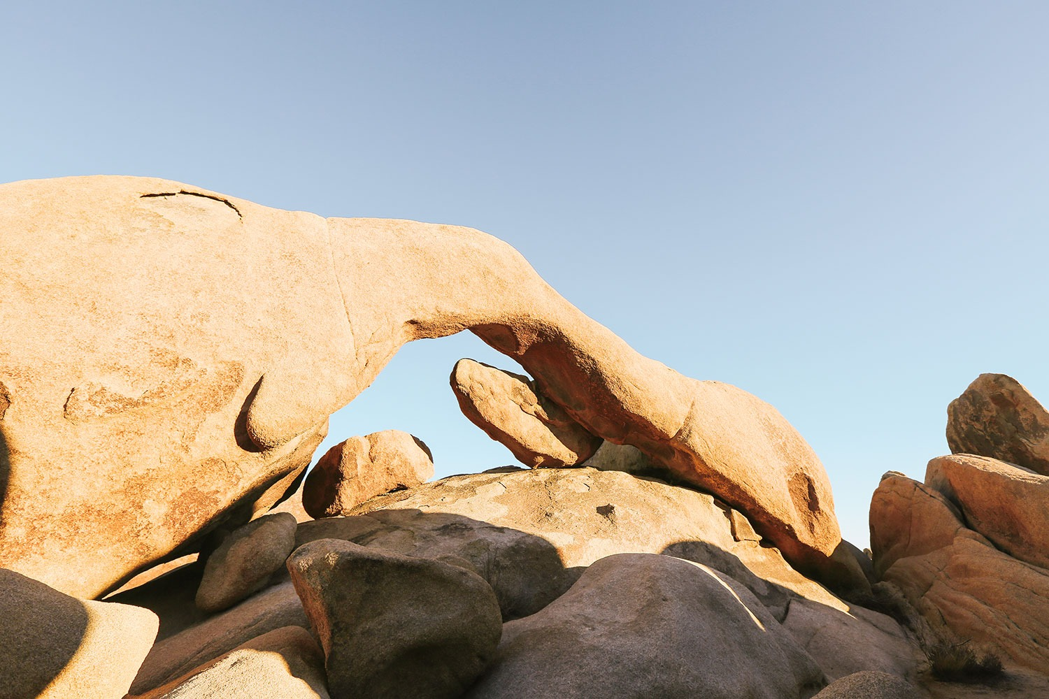 Arch at Arch Rock Trail in Joshua Tree