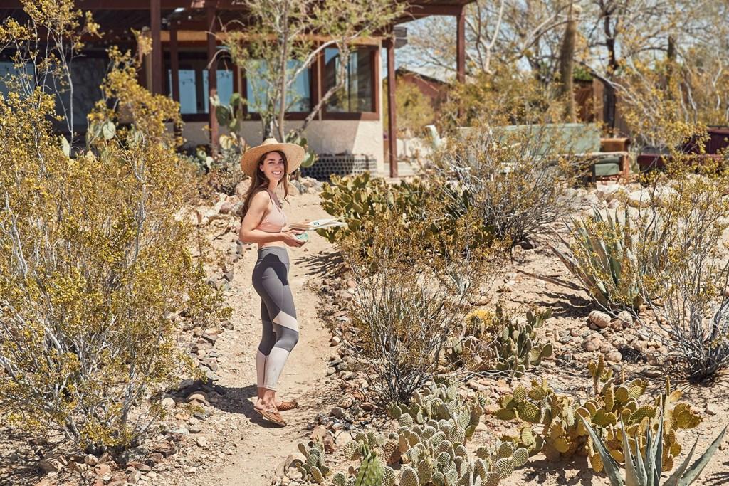 Sara Combs in Athleta yoga wear