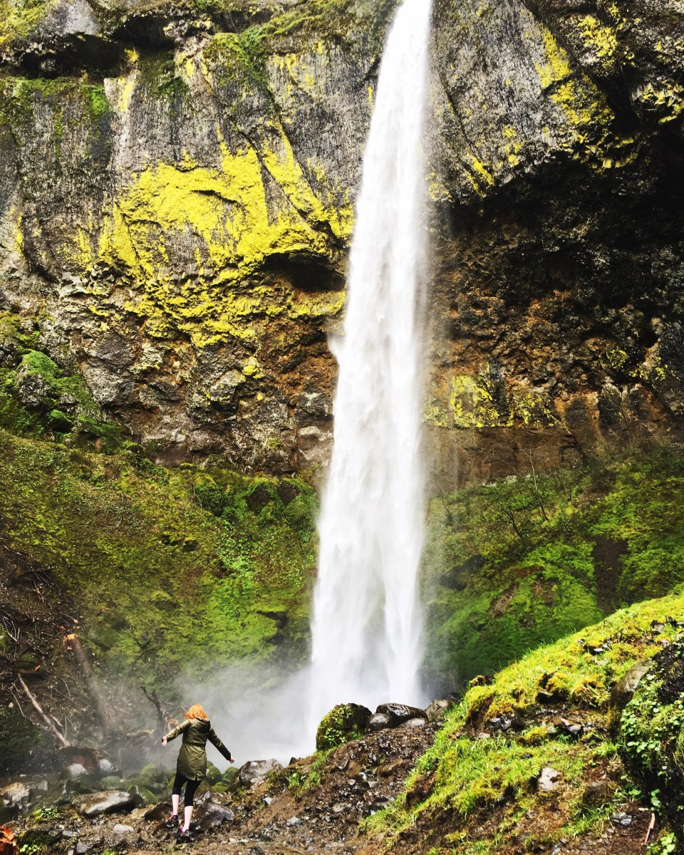 Adventuring at Elowah Falls in the Columbia River Gorge