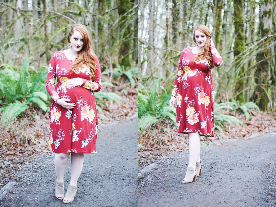 The perfect during + after modest maternity dress & how pregnancy is changing me