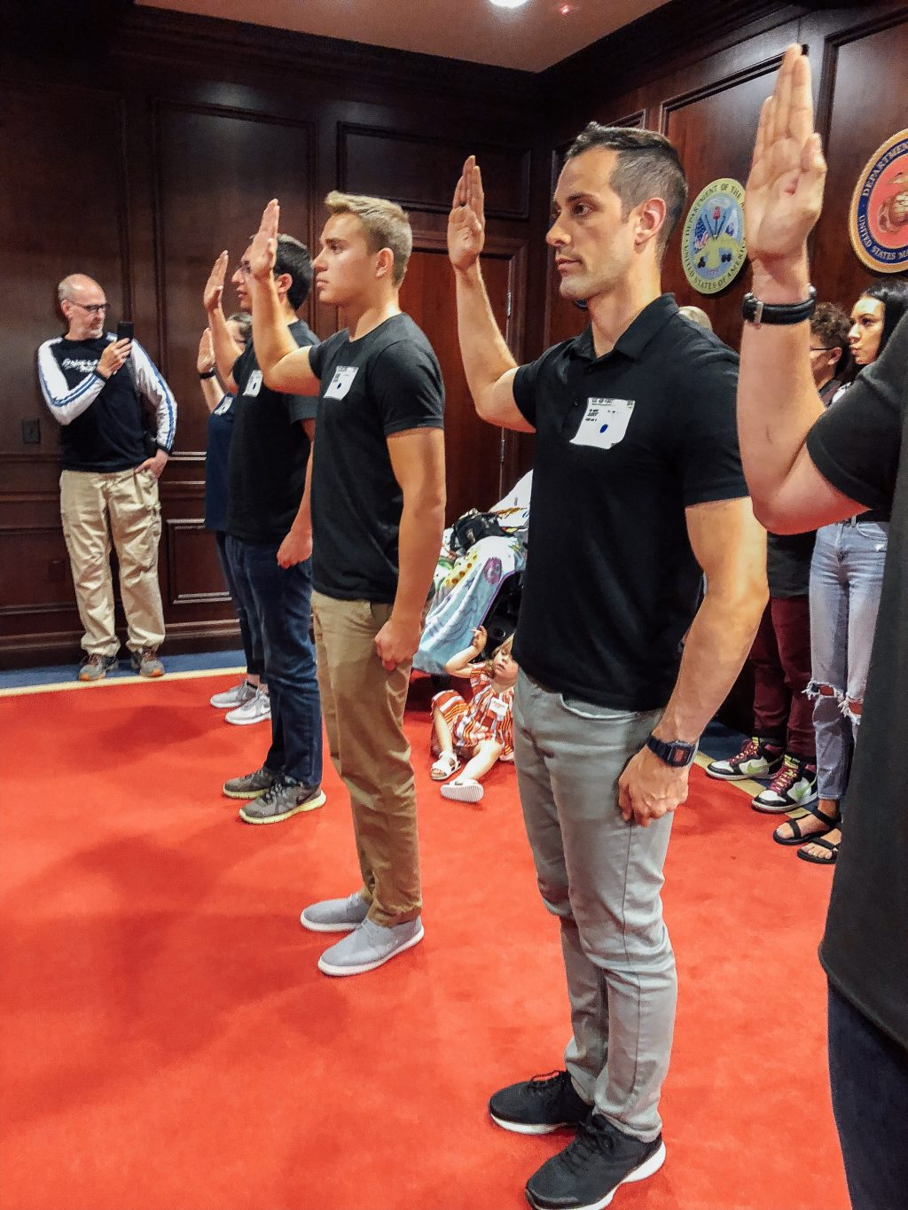 swearing in to the Air Force
