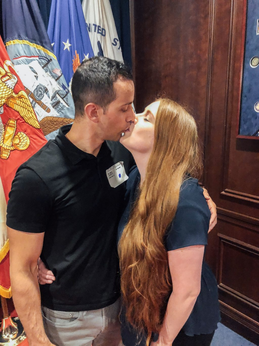 MEPS Air force swear in spouse photo