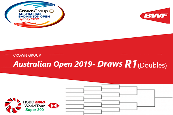 Australian Badminton Open 2019 Draws