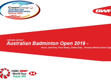 Crown Group Australian Badminton Open 2019