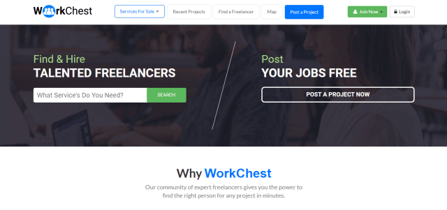 WorkChest Freelance marketplace for Pakistani freelancers