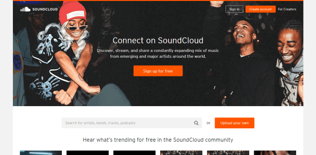 Soundcloud online music Reviews