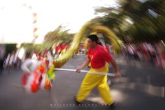 3: Dragon dancers from Bell Church in Baguio City waves and dances with their dragons along Session Road during the celebration of the Chinese New Year.
