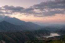 A view of the tailings dam of Lepanto mining company in the town of Mankayan, Benguet province, north of Philippines.