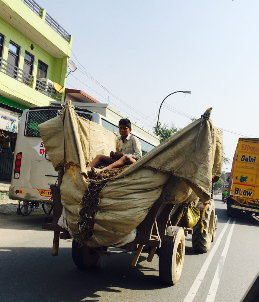 Typical cause of a traffic jam in India