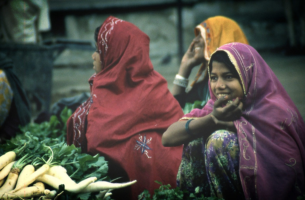 Indian women at the market