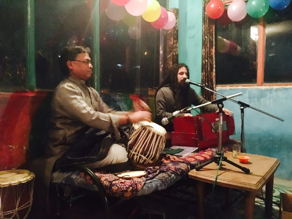 Traditional Indian Music at Anna's Cafe in Rishikesh