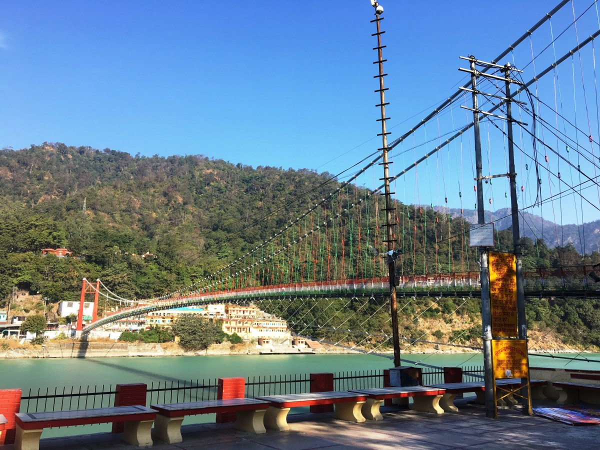 The Foot Bridge in Rishikesh, India