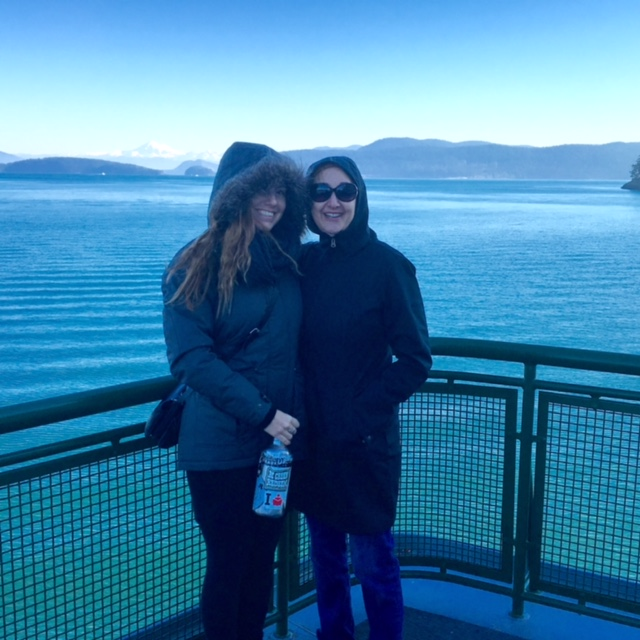 Me and my daughter on the ferry