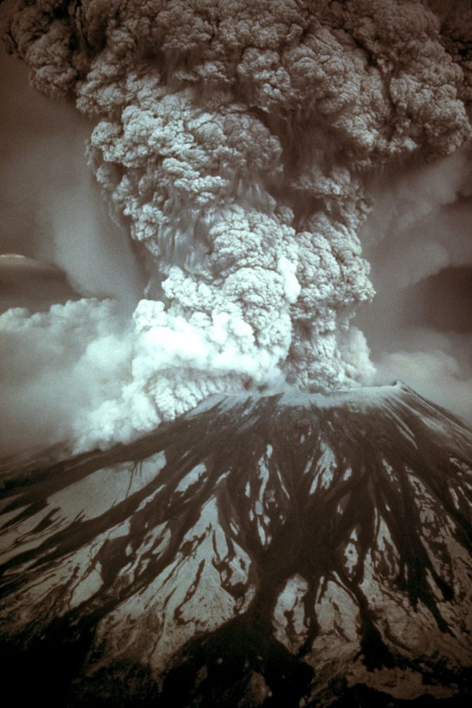 The eruption of Mt. St. Helens
