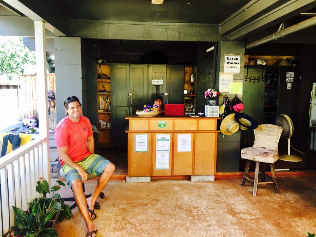 The staff at Kayak Wailua