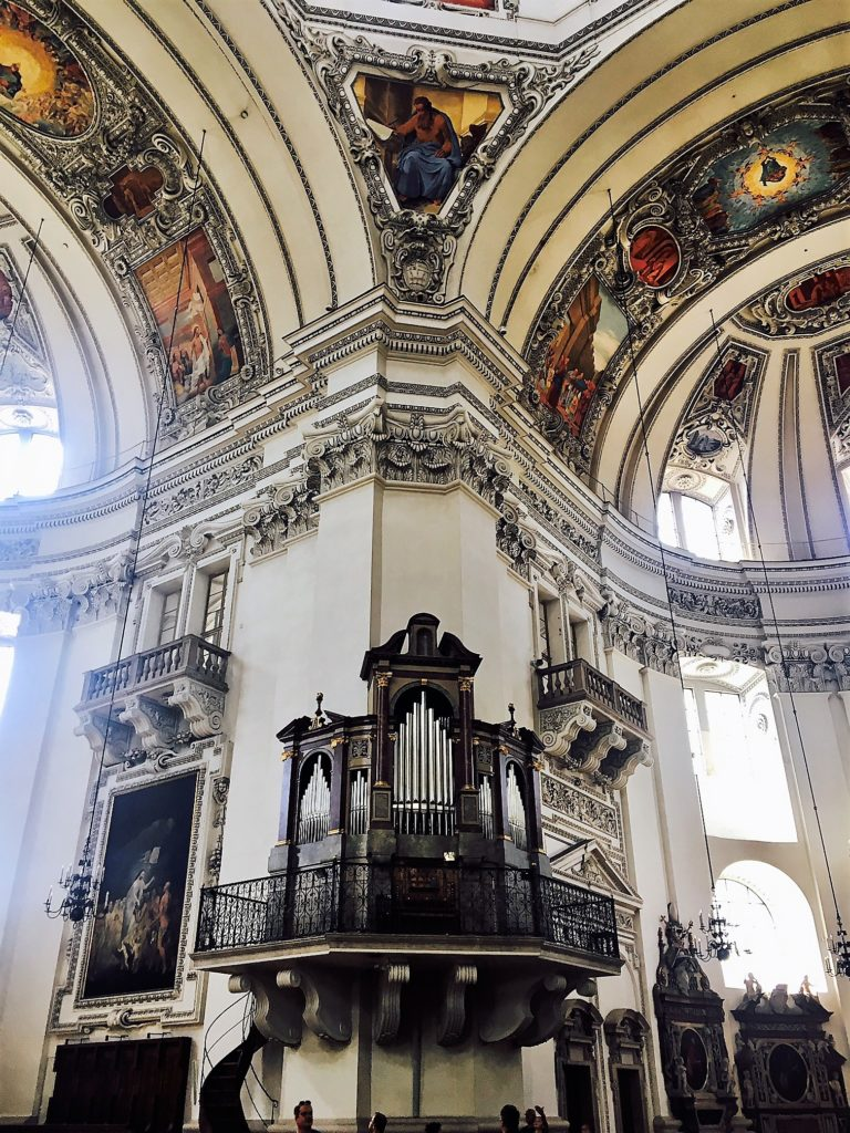 The interior of the Salzburg Cathedral