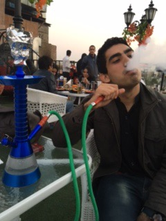 Smoking a Hookah in HKV