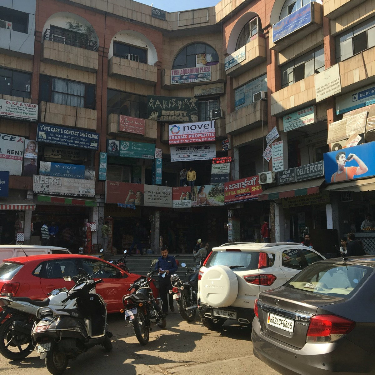 Small Shopping Center in Gurgaon, India