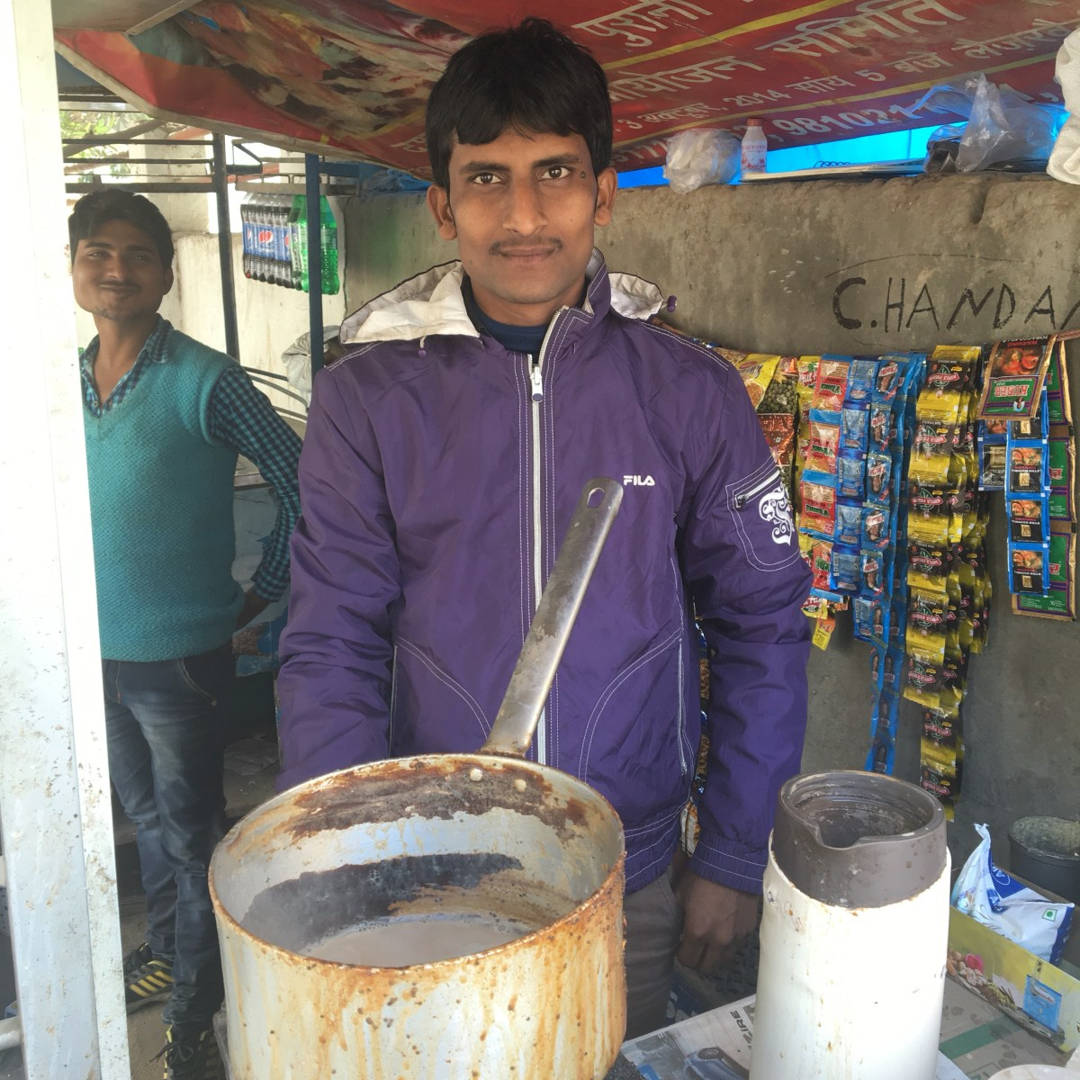 Tea Stand in Delhi, India