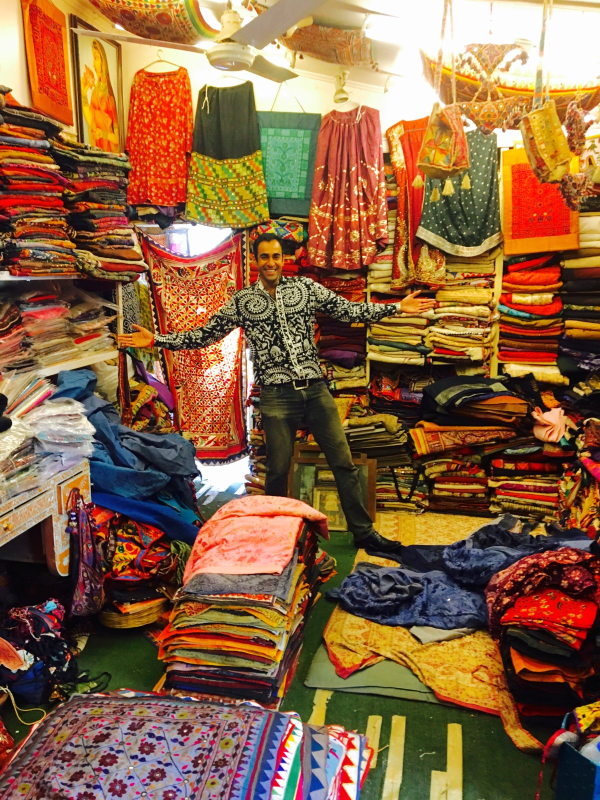 One of the shop owners in Udaipur