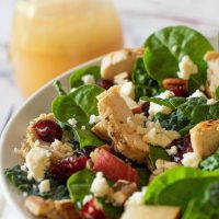 GRILLED CHICKEN AND PEAR SALAD