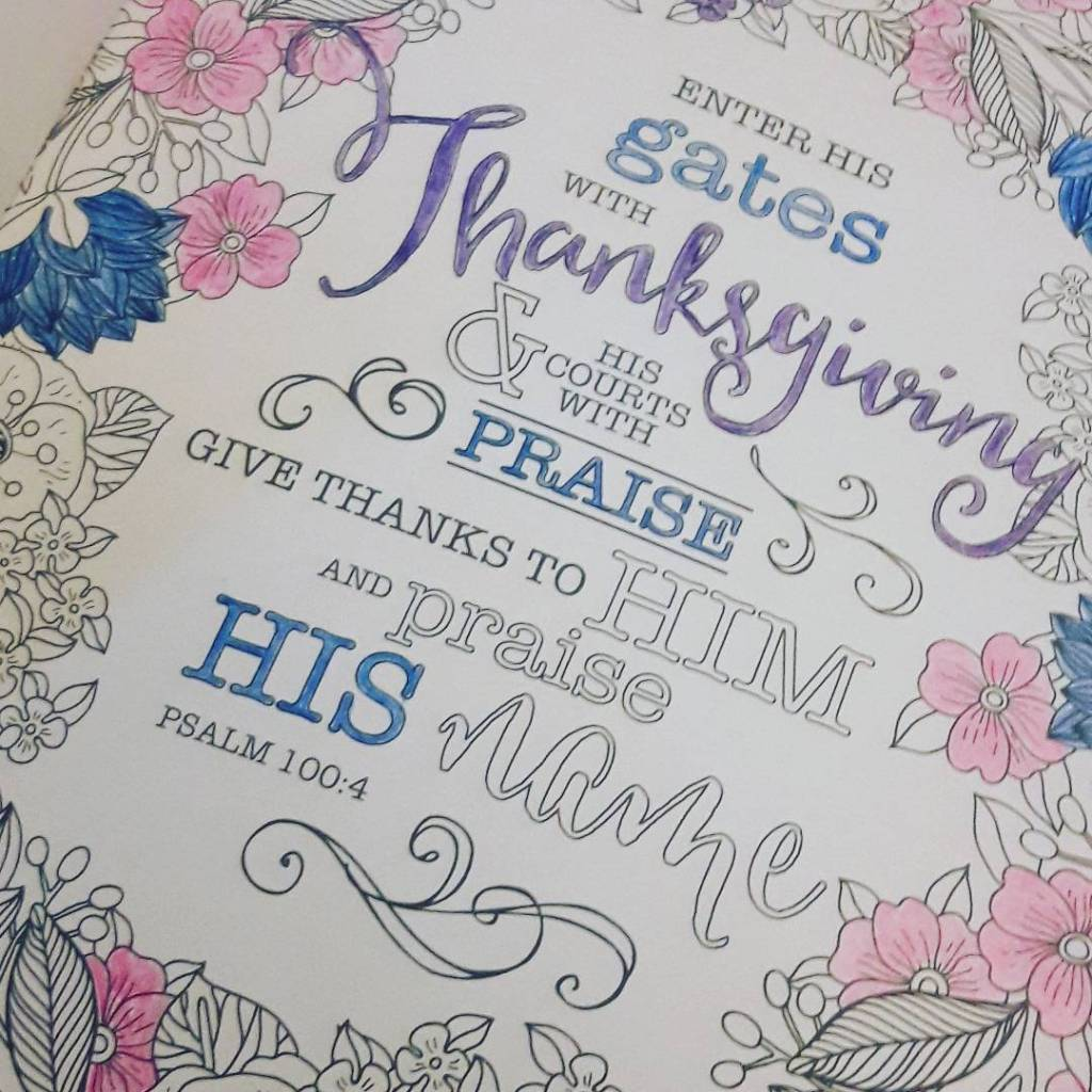 Coloring through the psalms Gift from my Mom! Rather relaxinghellip