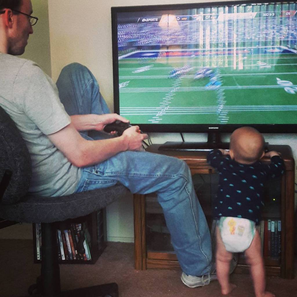 Father Son Xbox Football Yup