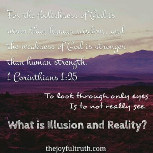 What is Illusion and Reality?