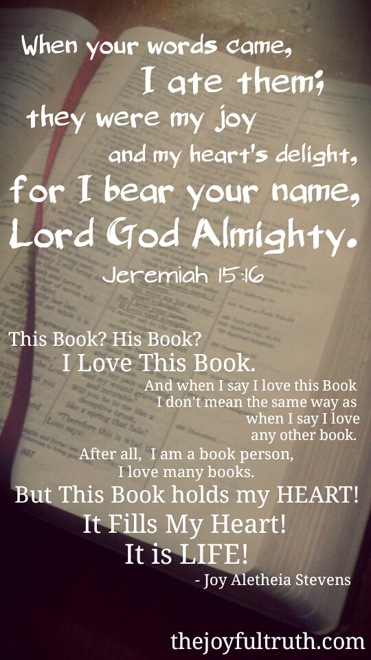 Why I Love the Intimate Word of God