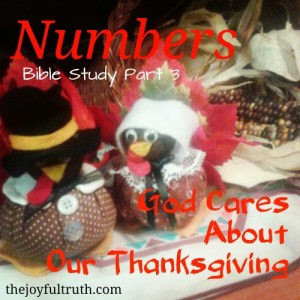 Numbers: God Cares About Our Thanksgiving