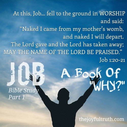 Because sometimes it is in the darkest places that we find the brightest hope. A Study in the Book of Job. The Book that asks,