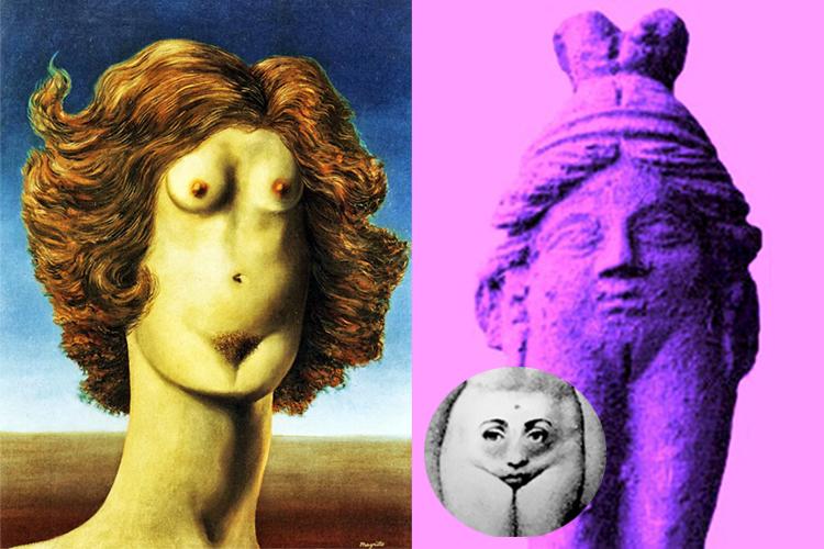 Baubô par Magritte, etc